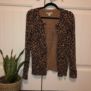Cheetah print button up cardigan from Old Navy